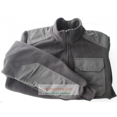 Куртка флисовая служебная черная