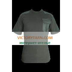 Футболка армейская T-17, оливковая с карманом